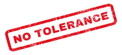 No Tolerance Rubber Stamp Stock Illustration