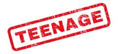 Teenage Rubber Stamp Stock Illustration