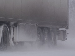 Freight cars winter highway 1 9 Stock Footage