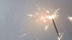 Flame of sparkler Stock Footage