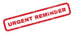 Urgent Reminder Rubber Stamp Stock Illustration