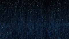 Abstract Blue Fireflies Rising from Grass Arkistovideo
