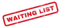 Waiting List Rubber Stamp Stock Illustration