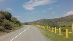 Autotravel Summer south of Crimea. Beautiful mountain landscape near the Black Stock Footage