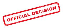 Official Decision Rubber Stamp Stock Illustration