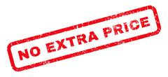 No Extra Price Rubber Stamp Stock Illustration
