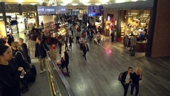 Passengers and world travelers at Istanbul Ataturk Airport. TURKEY Stock Footage