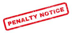 Penalty Notice Rubber Stamp Stock Illustration
