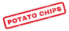 Potato Chips Rubber Stamp Stock Illustration