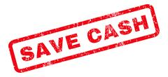 Save Cash Rubber Stamp Stock Illustration