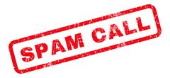 Spam Call Rubber Stamp Stock Illustration