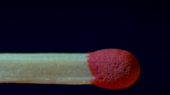 Burning Match And Flame Stock Footage