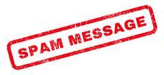 Spam Message Rubber Stamp Stock Illustration
