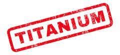 Titanium Rubber Stamp Stock Illustration