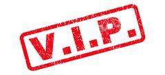 V.I.P. Rubber Stamp Stock Illustration