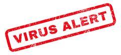 Virus Alert Rubber Stamp Stock Illustration