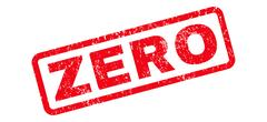 Zero Rubber Stamp Stock Illustration