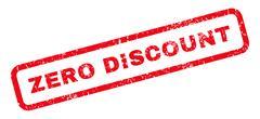 Zero Discount Rubber Stamp Stock Illustration