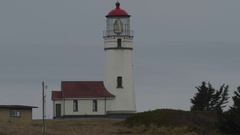 Cape Blanco Lighthouse Oregon Stock Footage