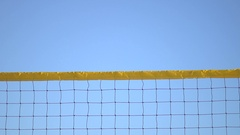 A man spiking a beach volleyball, super slow motion. Stock Footage