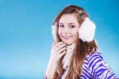 Young woman in wintertime. Stock Photos