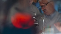 Chemists Working with Professor Stock Footage