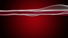 Powerful animation with particle wave object in slow motion, 4096x2304 loop 4K Stock Footage