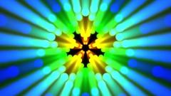 Multicolored Pentagram Rays Flower Pulsing Mandala Motion Background Loop Stock Footage