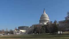US Capitol Building with bleachers Stock Footage