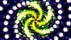 Pulsing Glowing Circles Spiral Disco VJ Motion Backgrund Loop 2 Stock Footage