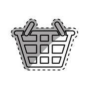 Shopping basket symbol Stock Illustration
