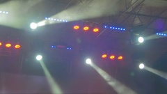 Concert Colorful Lights Stock Footage