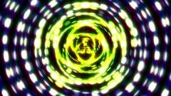 Concentric Glow Lights Pentagram Blue Pulsing VJ Motion Background Loop 2 Stock Footage
