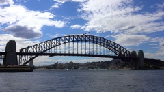 Sydney, Harbour Bridge, Top, Australia Flag Stock Footage
