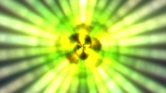 Concentric Glow Lights Pentagram Yellow Pulsing VJ Motion Background Loop Stock Footage