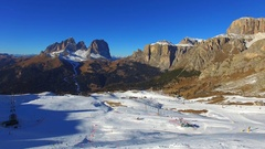 Aerial View of Dolomites (Alps) Mountains in Winter, Italy, Stock Footage