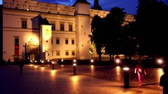 Palace of Grand Dukes of Lithuania in Vilnius Stock Footage