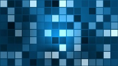 Flashing squares in blue color Stock Footage