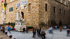 Palazzo Vecchio is town hall of Florence, Italy Stock Footage