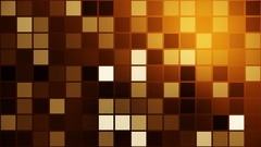 Flashing squares in brown,yellow colors Stock Footage