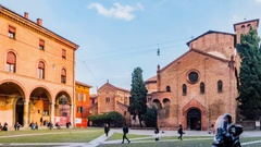 Basilica of Santo Stefano in Bologna, Italy Stock Footage