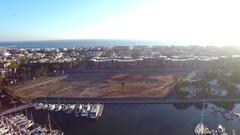 Drone view of Marina del Rey harbor in Los Angeles Stock Footage