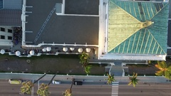 Top Down View of Downtown Ventura, CA City Hall Event Stock Footage