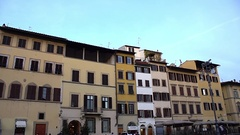 FLORENCE, ITALY: Basilica di Santa Croce di Firenze. Stock Footage