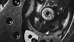 Mechanical watch movement Stock Footage