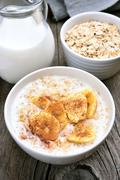 Breakfast with oatmeal Stock Photos