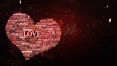 Heart of Words Valentine 4K Stock Footage