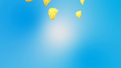Potato chips falling Stock Footage