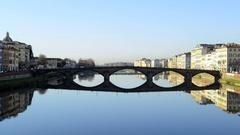 Ponte alla Carraia locked off establishing shot Stock Footage