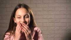 Laughting teen girl Stock Footage